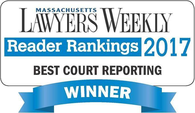 O'Brien & Levine Court Reporting Solutions Wins Massachusetts Lawyers Weekly 2017 Award
